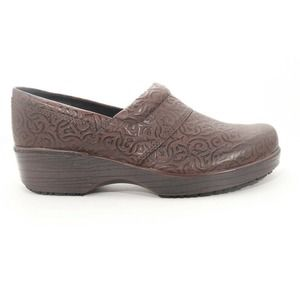 Abeo Flora Brown Clog Slip On Non Slip 8 ($)86